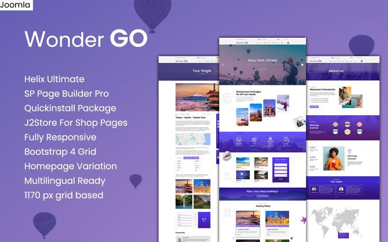 Wonder GO - Modello Joomla per prenotazione di tour e viaggi