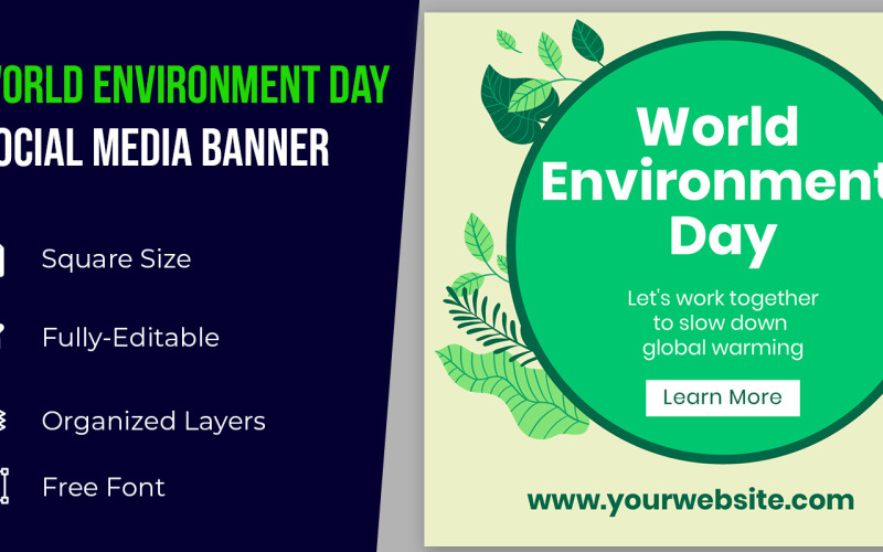 Happy World Environment Day Idea Social Media Banner