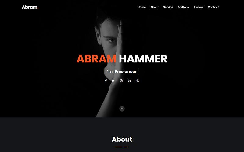 Abram - Personal Portfolio Landing Page Template