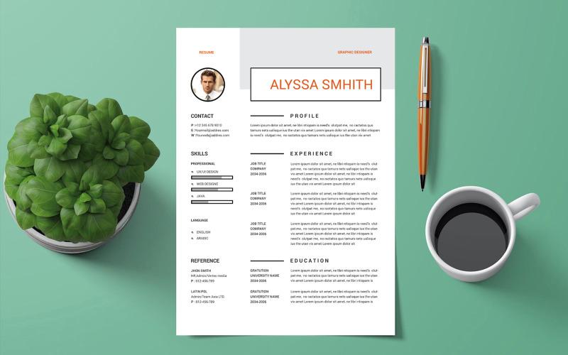 Alyssa Smhith – Graphics  Designer Resume Template