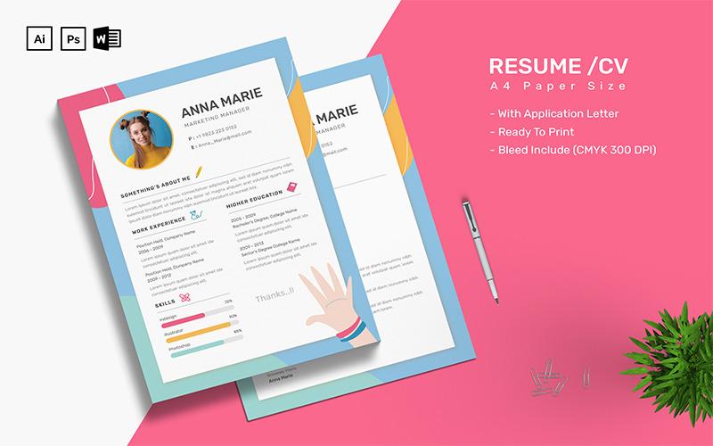 Anna Marie - CV Resume Template