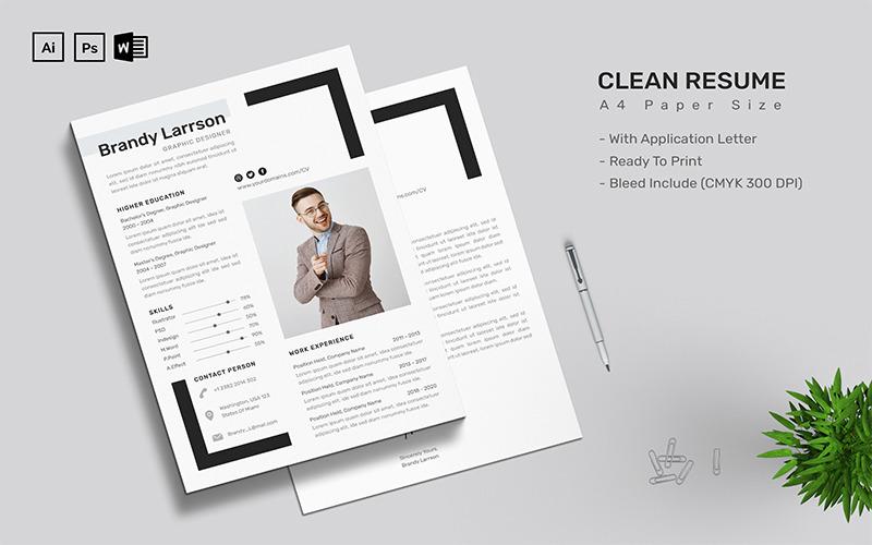 Brandy Larrson - CV Resume Template