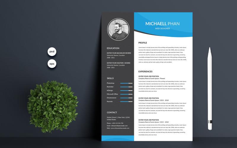 Michaell Premium Resume Template