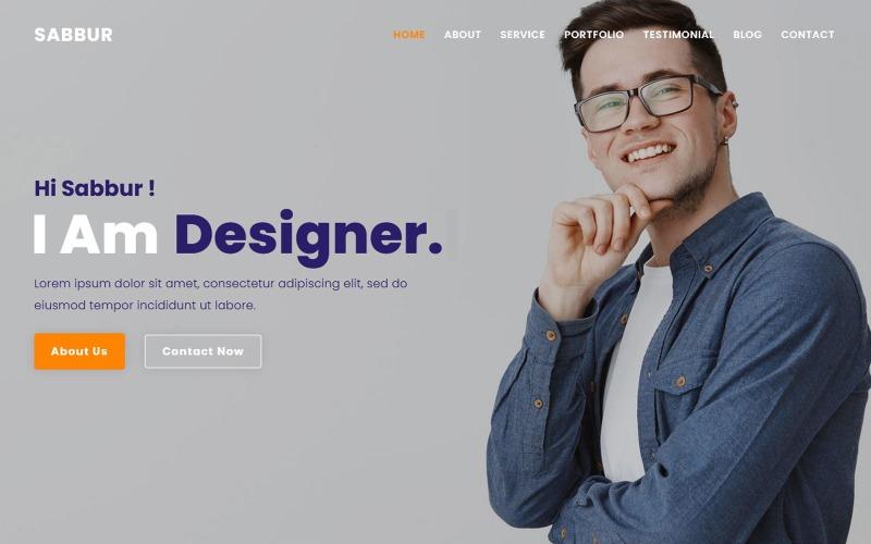 Sabbur - Personal Portfolio Photographer Landing Page Theme