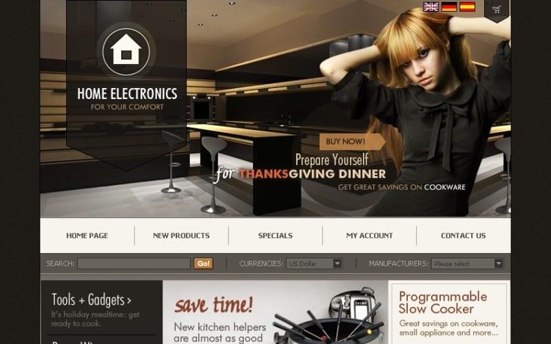 Electronics Store OsCommerce Template