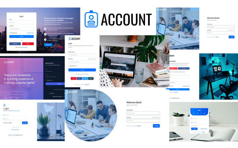 Account - Login and Register Form HTML5 Template