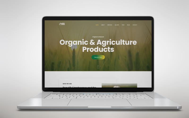 Shuvo - Landing Page Template für den ökologischen Landbau