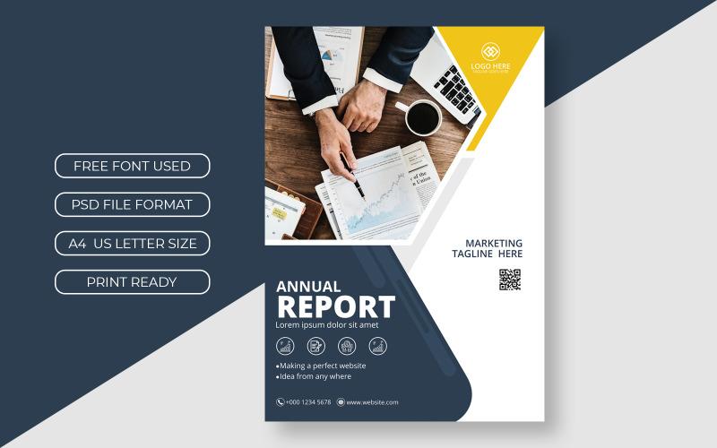 Business Annual Flyer Report Cover Präsentationsvorlage