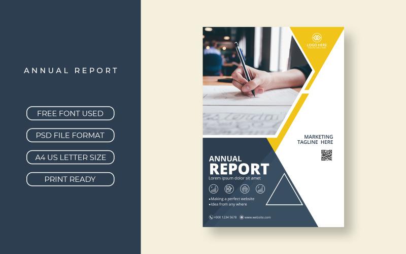 Corporate Business Geschäftsbericht Cover Template Design
