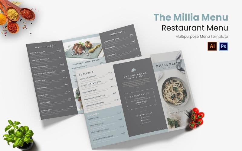 Das Millia Restaurant Menü
