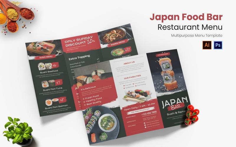 Japan Food Bar Restaurant Menü