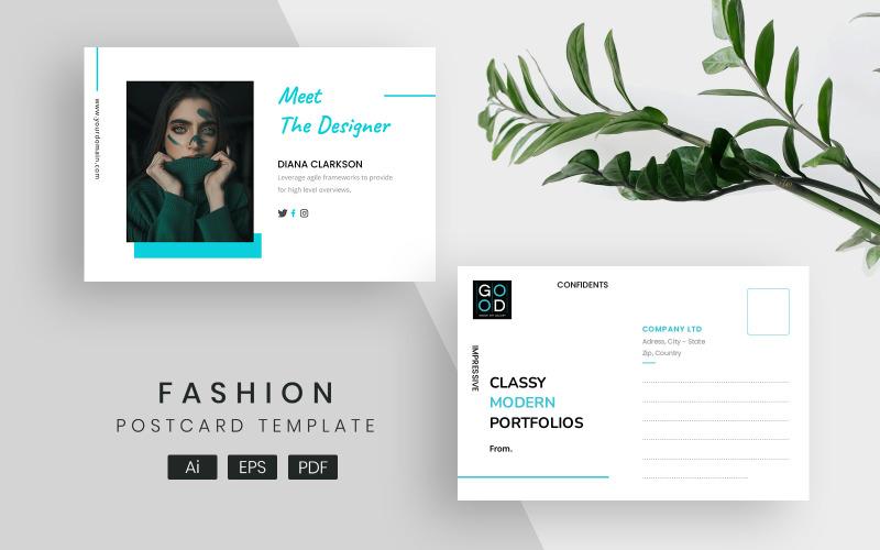 Moderne und elegante Post Сard Corporate Identity-Vorlage