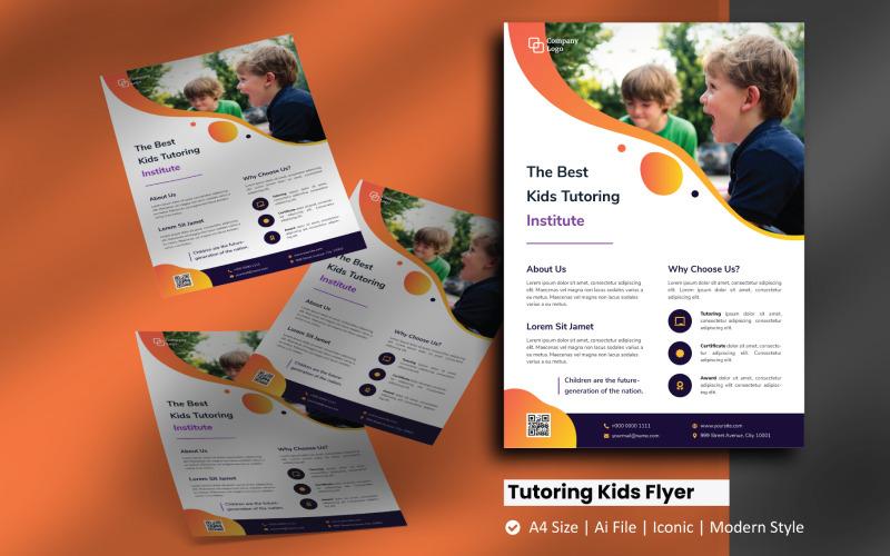 Tutoring Kids Flyer Broschüre Corporate Identity Vorlage