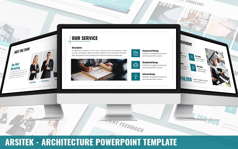 Arsitek - Architektur-Powerpoint-Vorlage