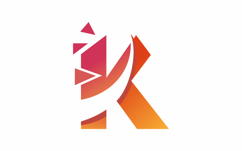 Buchstabe K digitale Logo-Vorlage