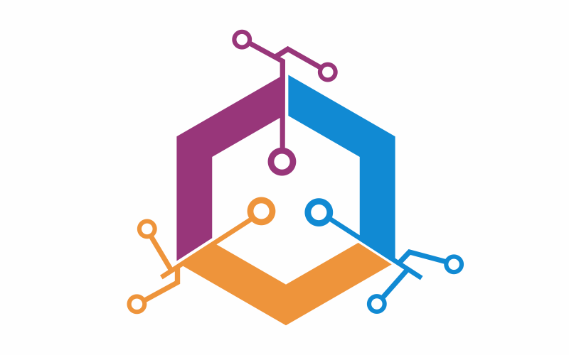 Digitale Hexagon-Logo-Vorlage
