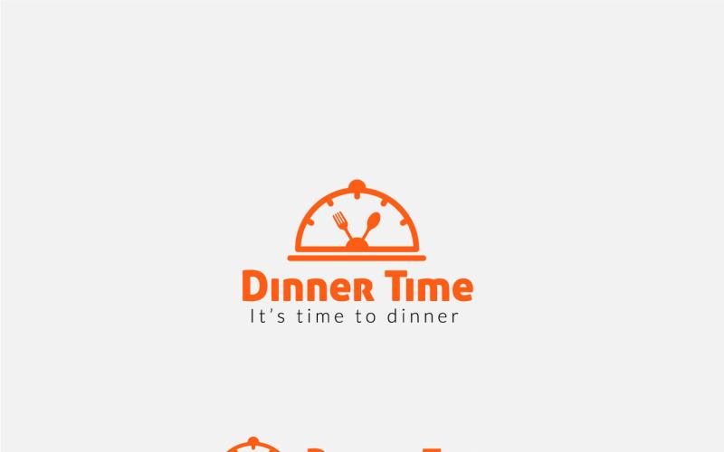 Food Time Logo Design, Konzept für Dinner Time Logo Vorlage