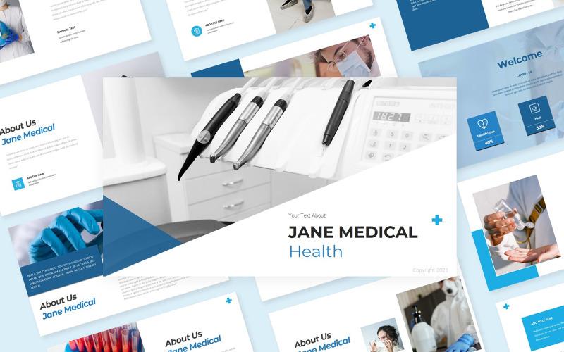 Jane Medical Health PowerPoint-Vorlage