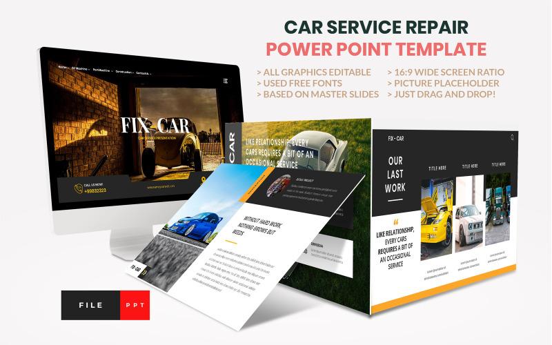 PowerPoint-Vorlage für Autoreparaturservice