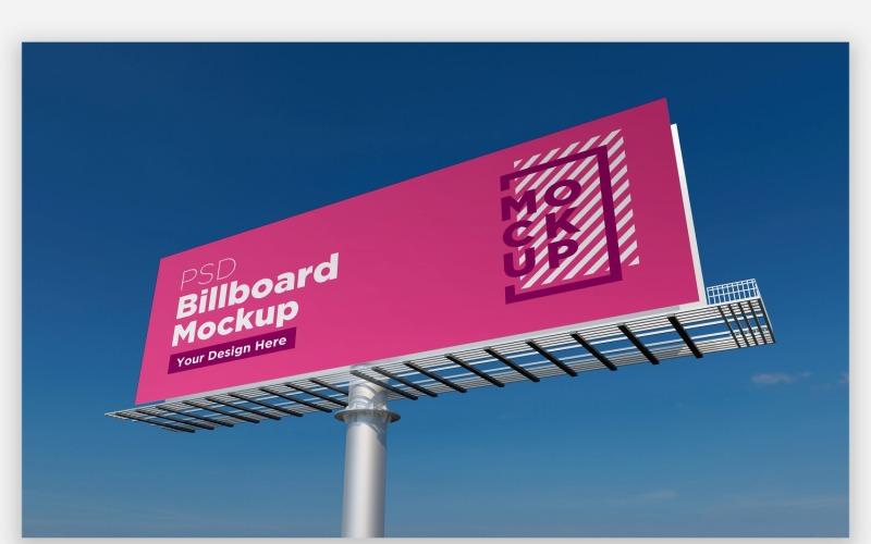 Roadside Hooding Billboard Seitenansicht Produktmodell