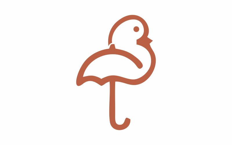 Schützen Sie die Logo-Vorlage für Hühner
