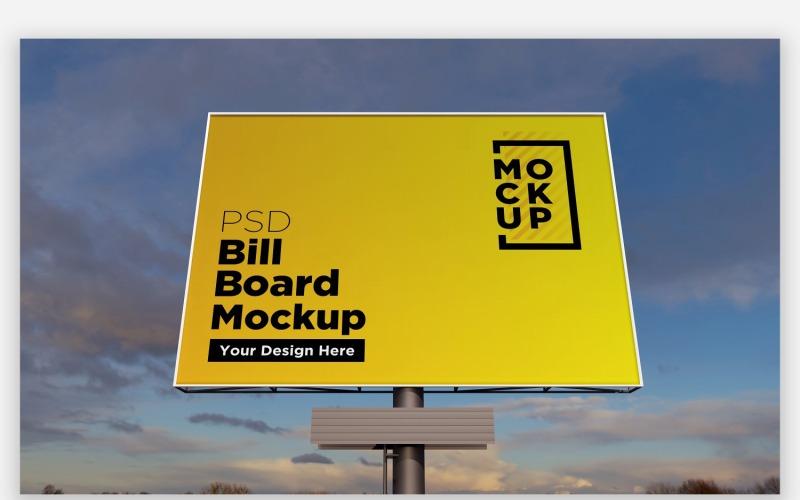 Sky Hooding Billboard Mockup Vorderansicht Produktmodell