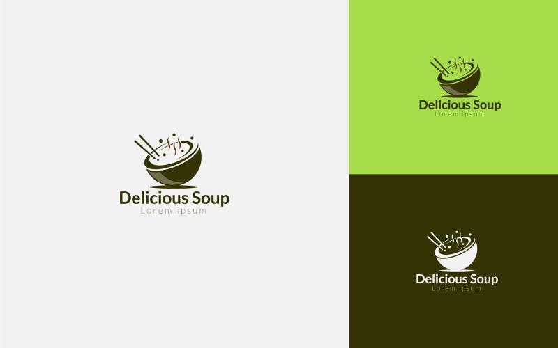 Suppe Logo Design Vorlage