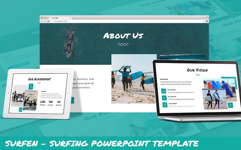 Surfen - Surfing Powerpoint Vorlage