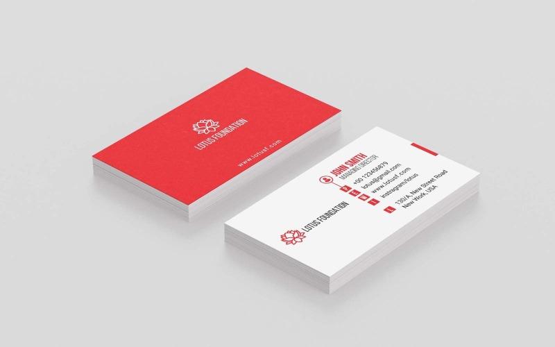 Design-Vorlage für Unternehmens-Visitenkarten