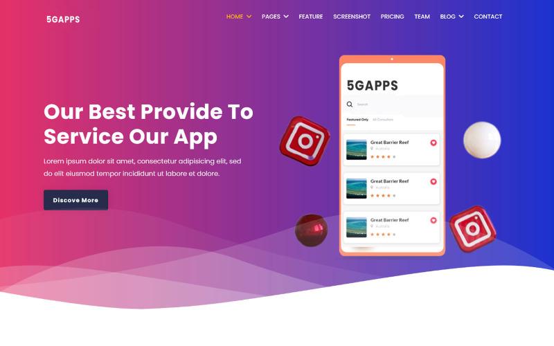 5gapps - Mehrzweck-App-Website-Vorlage
