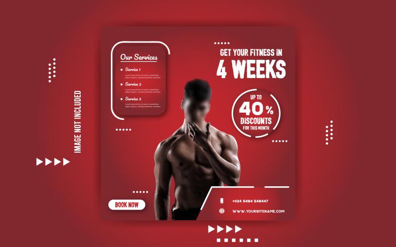 Gym Fitness Werbeverkauf Banner Vorlage