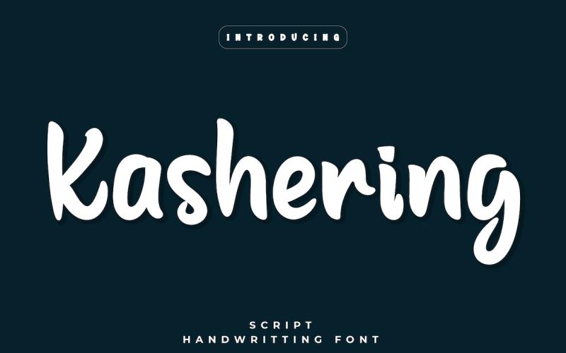 Kashering - Schöne Handschrift