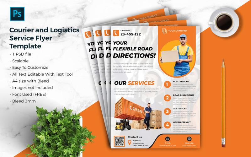 Kurier & Logistik Flyer Vorlage vol.06