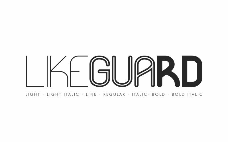 Likeguard Sans Serif Schriftart
