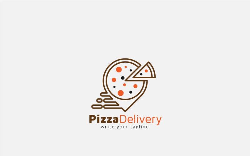 Pizza Delivery Logo Design Vorlage