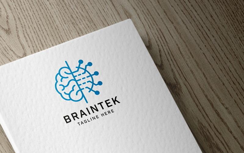 Professionelle Brain Technology Logo Vorlage