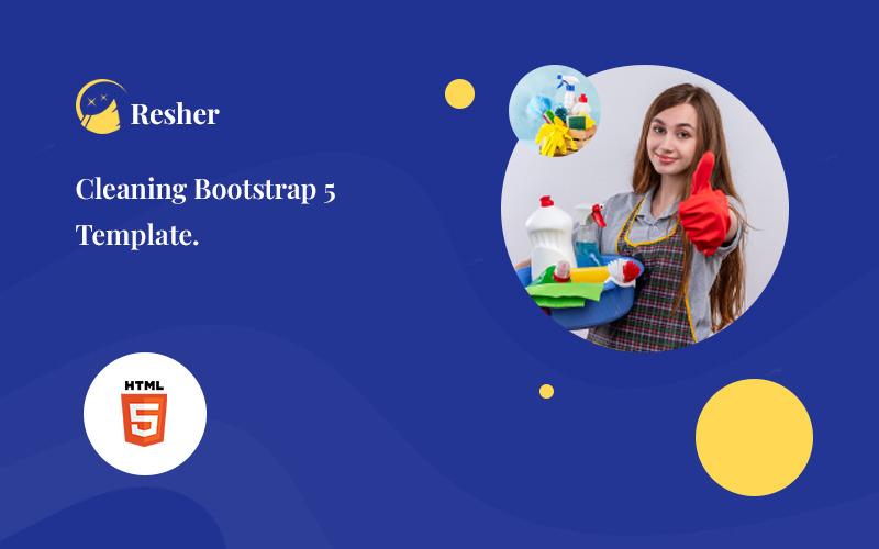 Resher - Cleaning Service Bootstrap 5 Website-Vorlage
