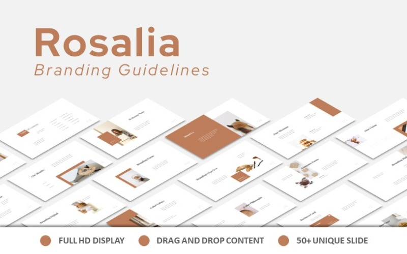 Rosalia Branding-Richtlinien Google Slide