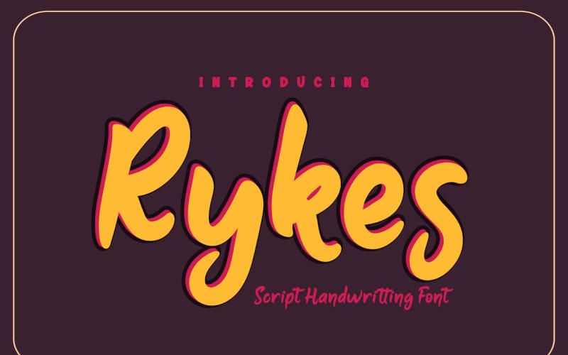 Rykes - Schöne Handschrift
