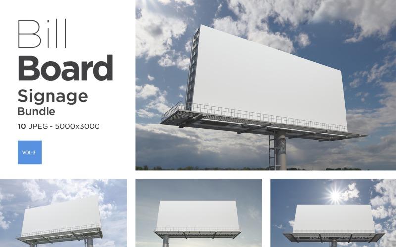 Außenwerbung Billboard Sign Mockup Set -3