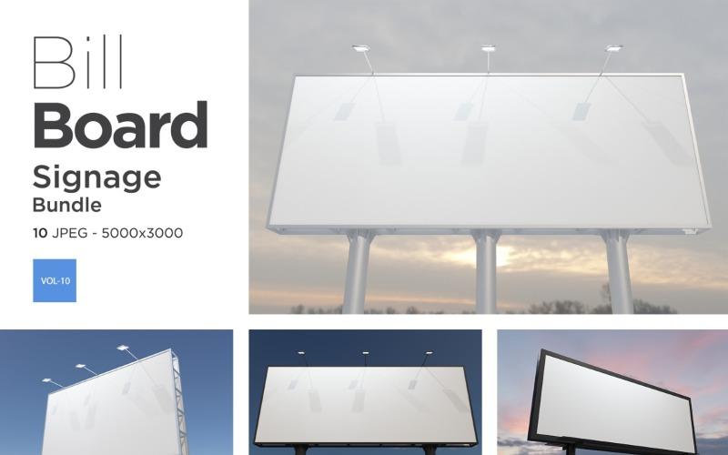 Außenwerbung Billboard Sign Mockup Set Vol-10