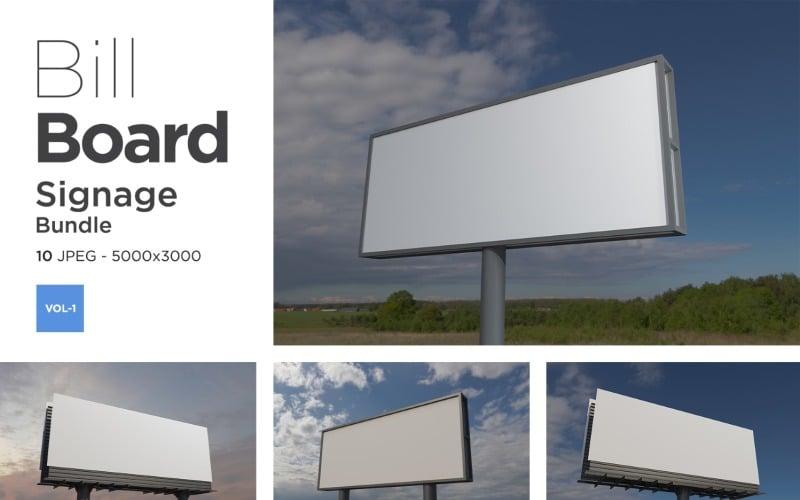 Außenwerbung Billboard Sign Mockup Set Vol-1
