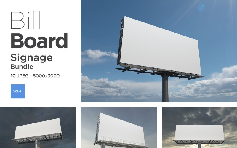 Außenwerbung Billboard Sign Mockup Set Vol-3