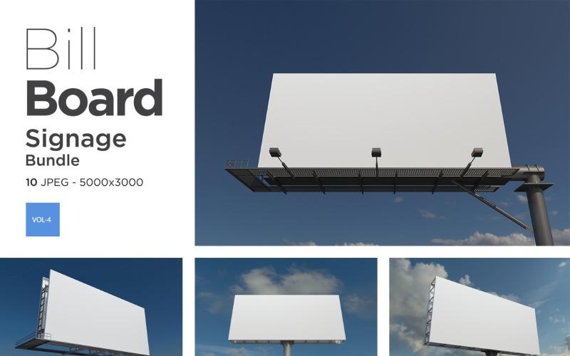 Außenwerbung Billboard Sign Mockup Set Vol-4