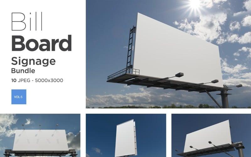 Außenwerbung Billboard Sign Mockup Set Vol-5