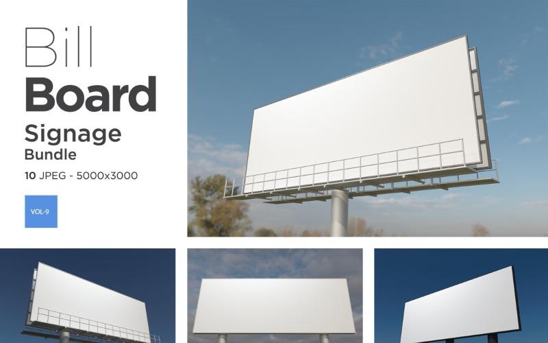 Außenwerbung Billboard Sign Mockup Set Vol-9