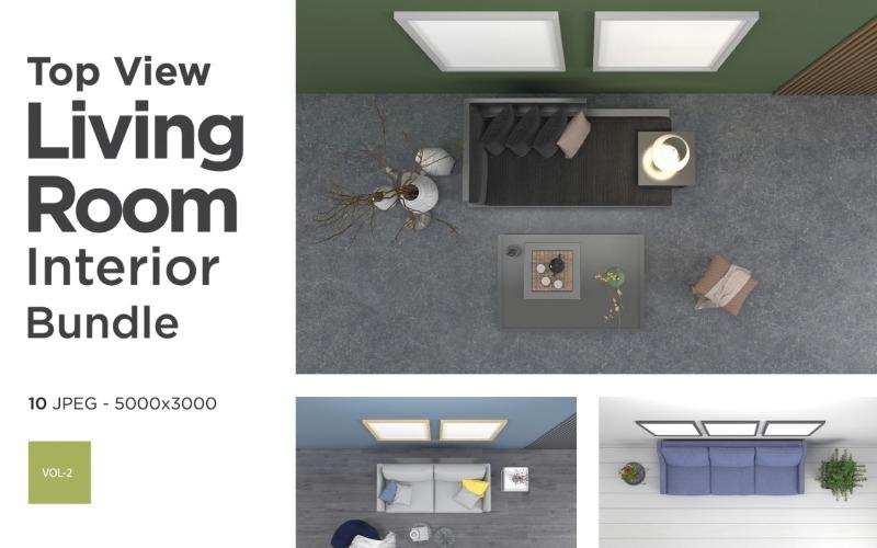 Draufsicht Wohnzimmer Interieur Set Vol 2 Produktmodell