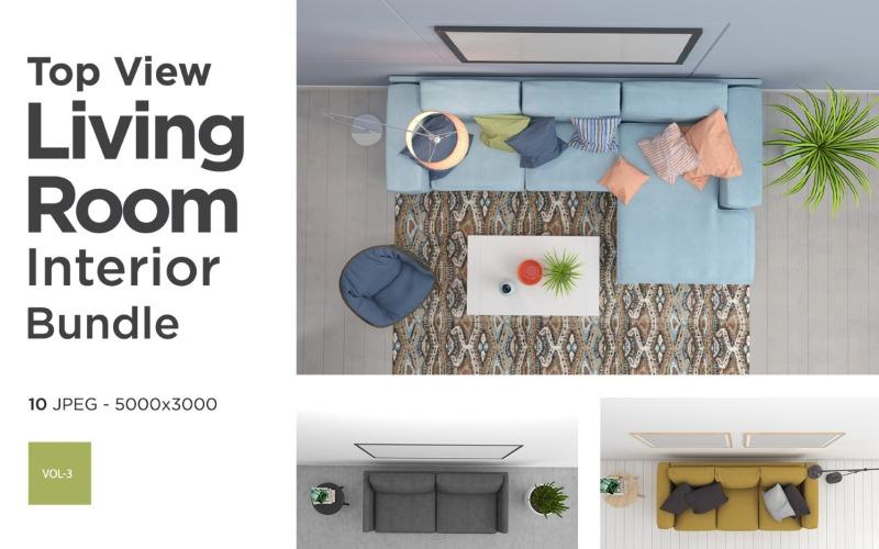 Draufsicht Wohnzimmer Interieur Set Vol 3 Produktmodell