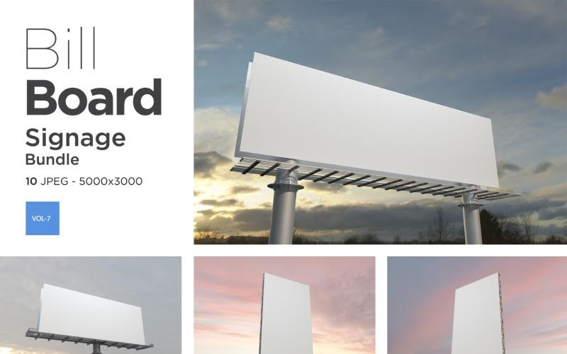 Hallo Außenwerbung Billboard Sign Mockup Set Vol-7