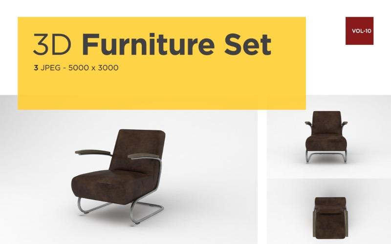 Luxus Sessel Vorderansicht Möbel 3d Foto Vol-10 Produktmodell